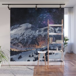 Mountain CALM IN space view Wall Mural