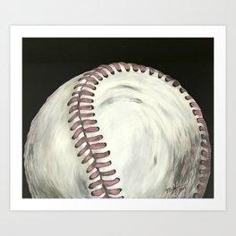 Vintage Baseball Art Art Print