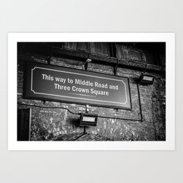 Old Borough Market Sign, London   Black & White   Street & Travel Photography   Fine Art Photo Print Art Print