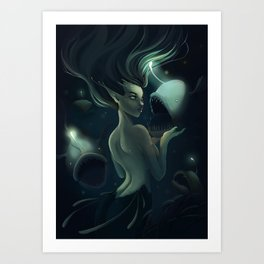 The Anglermaiden Art Print