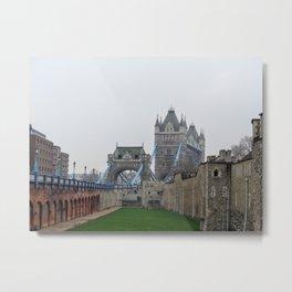 Tower and Tower Bridge Metal Print