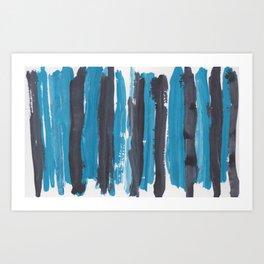 37 |  190408 Blue Abstract Watercolour Art Print