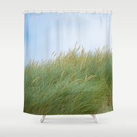dune Shower Curtains featuring Dune Grass by A Wandering Soul