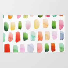 Watercolor brushstrokes Rug