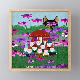 Garden Gnomes Framed Mini Art Print