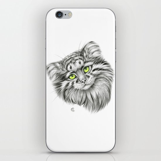 Pallas's Cat green G2012-51 iPhone & iPod Skin