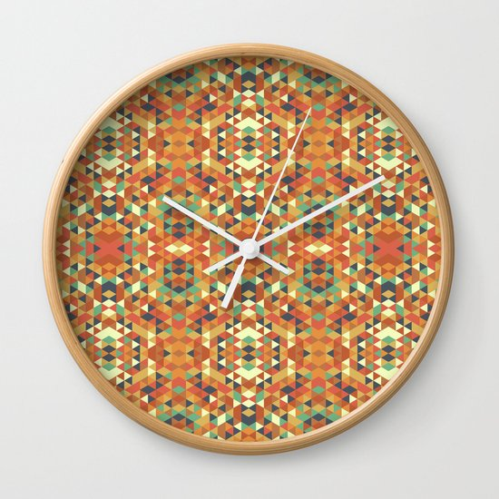 Aztec Quilt Wall Clock
