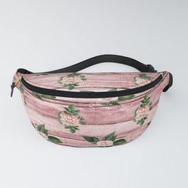 Blush Floral on Wood 01 Fanny Pack