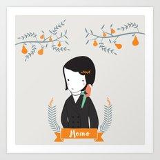 Momo Art Print