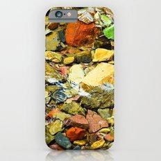 A Colorful Creek, Glacier National Park iPhone 6 Slim Case