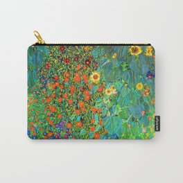 Gustav Klimt Garden with Sunflowers Carry-All Pouch