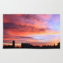 City sunset Rug