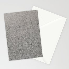 Silver leather texture Stationery Cards