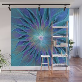 Decorative Flower Fractal Wall Mural