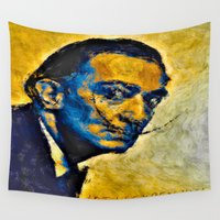 salvador dali Wall Tapestries featuring salvador by KrisLeov