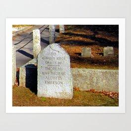 Authors Ridge Graves Art Print