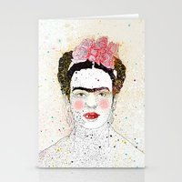 frida kahlo Stationery Cards featuring Frida Kahlo  by Marttala