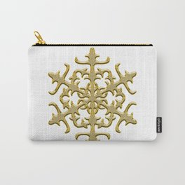 ornament, pattern, decor, gold decor, floral pattern, winter pattern, coldly, jewelry, frosty patter Carry-All Pouch