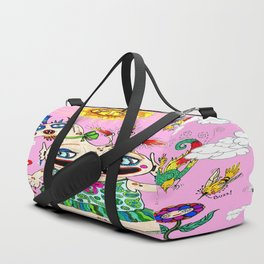 Little Baby Girl She-Beast and Friends, Pink Duffle Bag