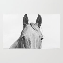 Light Horse Photograph Rug