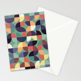 Mid century modern geometric shapes 22 Stationery Cards