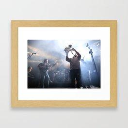 Sax player Framed Art Print