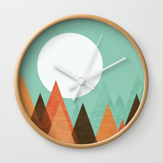 From the edge of the mountains Wall Clock