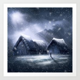 Going Home for Christman Art Print