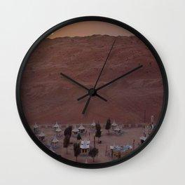 1000 nights camp oman 3 Wall Clock