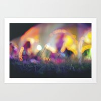bokeh Art Prints featuring Bokeh by Ben K Adams