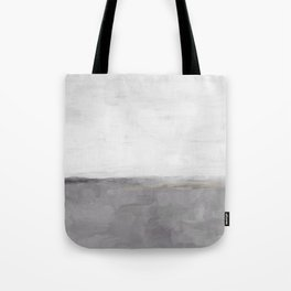 Light & Dark Gray with Gold Charcoal Grey Abstract Painting, Modern Wall Art, Tote Bag