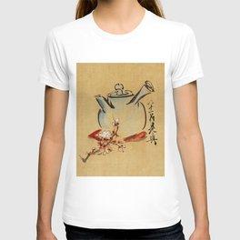 Vintage Japanese Teapot Painting T-shirt