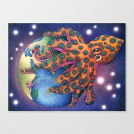 """Octo World"" Canvas Print"