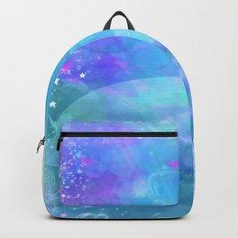 Purple Enchanted Sea Watercolor Mermaid Tail Backpack