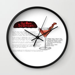 The Ron Swanson Cocktail Recipe Wall Clock