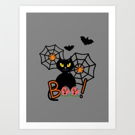 Happy Whimsical Halloween Art Print
