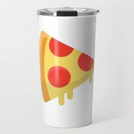 Pizza sticker. Fun cartoon mood. Travel Mug