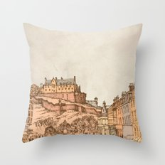 Tea in Edinburgh Throw Pillow