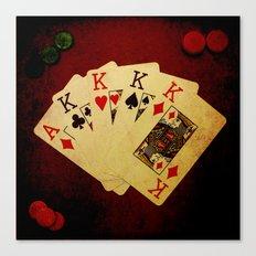 Poker de Reyes (Dirty Poker) Canvas Print