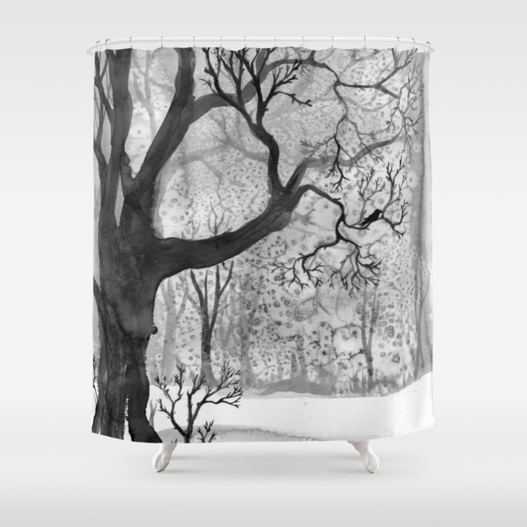 Winter shower curtain - Nordic Shower Curtains Society6