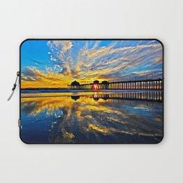 Sunset ~ Huntington Beach Pier CA  11/7/13 Laptop Sleeve