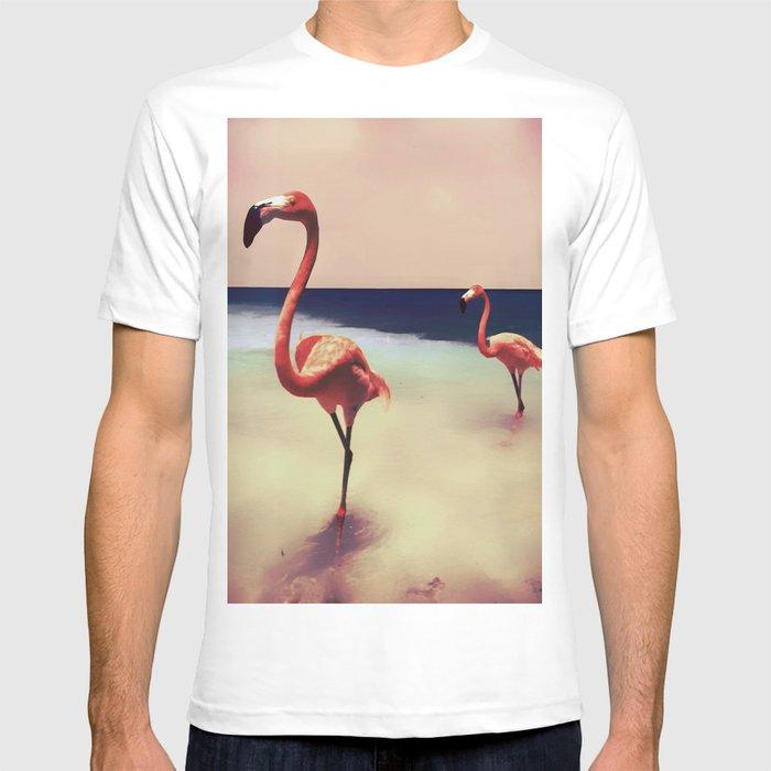 Flamingo beach T-shirt
