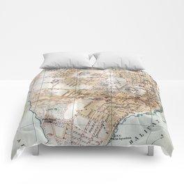 Vintage Map of Halifax Nova Scotia (1890) Comforters