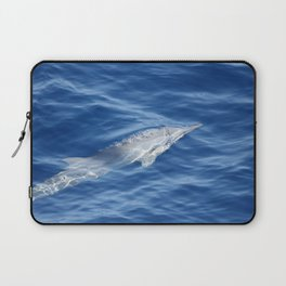 Dolphin breathing bubbles Laptop Sleeve