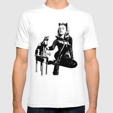 Cat-tastic White Mens Fitted Tee SMALL