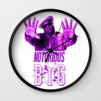 2pac Wall Clocks featuring Notorious Big by Gold Blood
