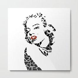 "Vector ""Monroe"" Unique mosaic Metal Print"