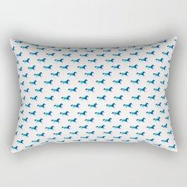 blue horse pattern Rectangular Pillow