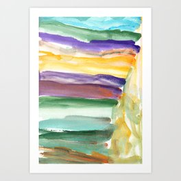 water color abstract painting_6 Art Print