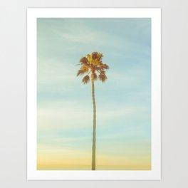 Sunrise Palm Tree Art Print